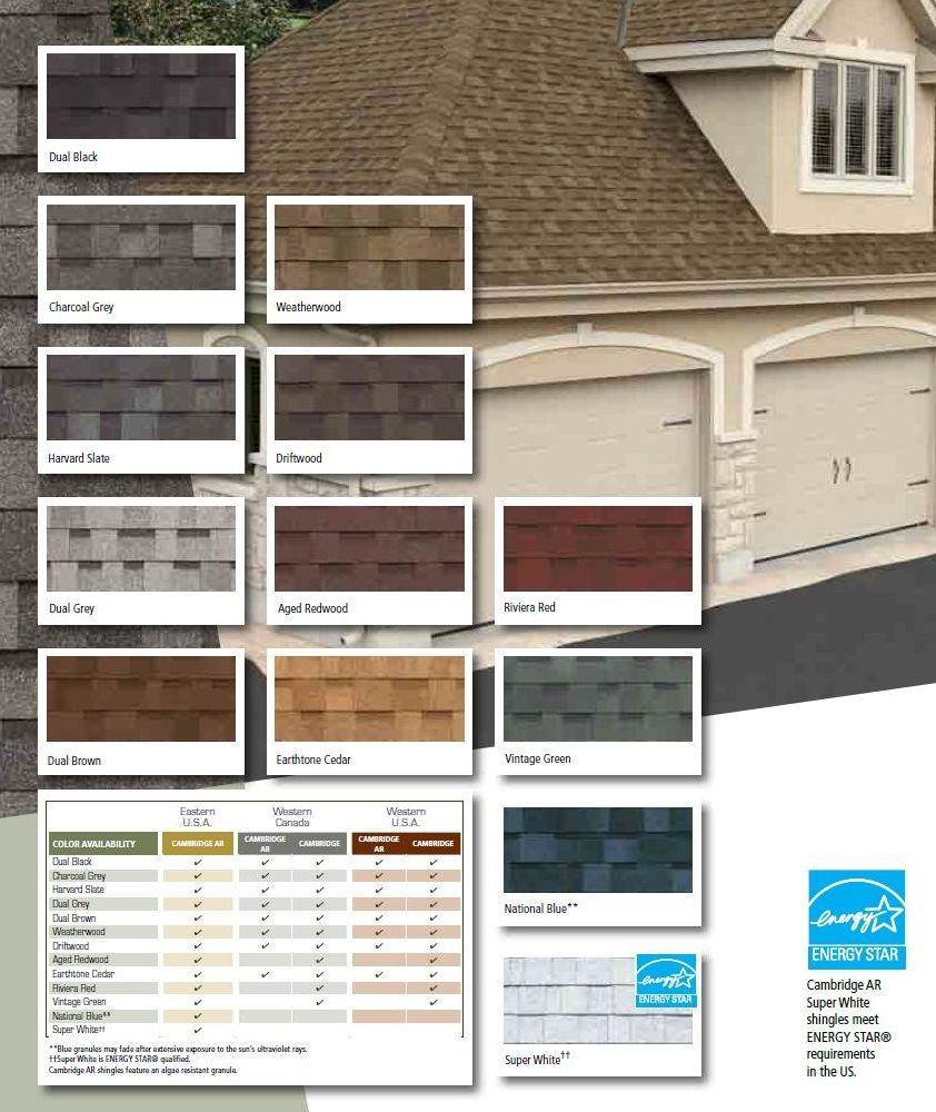 Color Chart 2012 Asphalt Shingles (IKO)